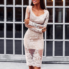 Load image into Gallery viewer, Lace Dress With A Wrap Dress