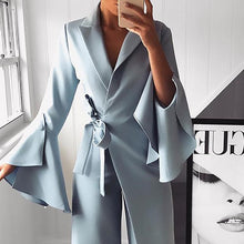Load image into Gallery viewer, Flared Sleeve Elegant Jumpsuit   In Solid Color