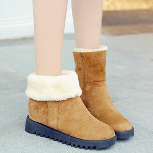 Suede Retro Warm Snow Ankle Boots