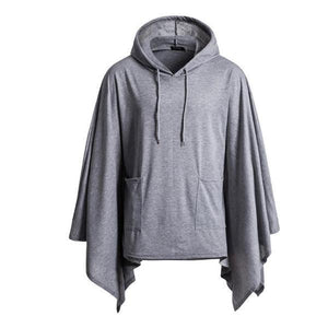 Casual Fashion Loose Solid Color Long Sleeve Irregular Hem Hoodie