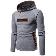 Load image into Gallery viewer, Casual Color Blocking Zipper Slim Hoodie