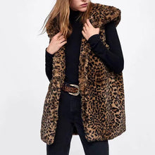 Load image into Gallery viewer, Leopard Sexy Wild Wild Faux Fur Vest