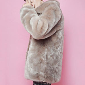 Plain Mink Fur   Overcoat