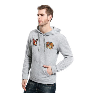 Casual Animal Printed Loose Floss Hoodie With Hat