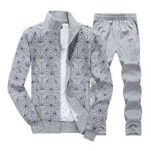 Printed Fashion Large Size Sportswear Suit