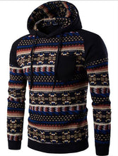 Load image into Gallery viewer, Fashion Winter Split Joint Printed Loose Hoodie With Hat