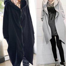 Load image into Gallery viewer, Zipper Loose Hoodies Coat with Pocket