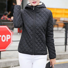 Load image into Gallery viewer, Plush Warm Hooded Slim Short Coat