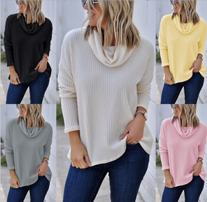 Long Sleeve Knit Casual   Turtleneck Sweater