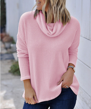Load image into Gallery viewer, Long Sleeve Knit Casual   Turtleneck Sweater
