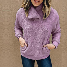 Load image into Gallery viewer, Solid Color High Neck Long Sleeve Sweater