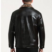 Load image into Gallery viewer, Middle-Aged Leather Men's Fur One Plus Velvet Thick Leather