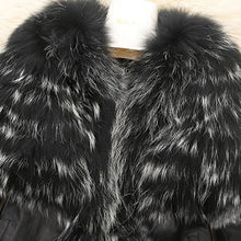 Load image into Gallery viewer, PU Leather Coat Winter Jacket Faux Fur Collar Soft Outwear