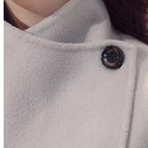 Fashion Loose Large-Size Furry Sleeve Woolen Coat