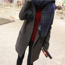 Load image into Gallery viewer, Autumn/Winter New Mid-Length Lapel Woolen Coat