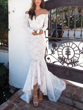 Load image into Gallery viewer, Slim-Fit Lace Fishtail Dress Dress Long Skirt Evening Dress