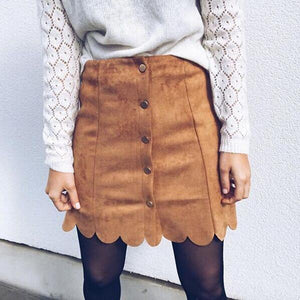 Loose Suede Warm Skirt