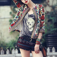 Load image into Gallery viewer, New Embroidered Print Three-Quarter Sleeve Jacket