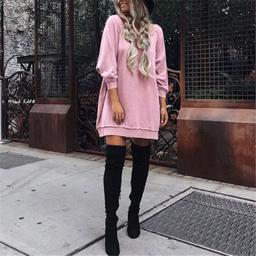 Casual Large Size Loose Sweater Dress