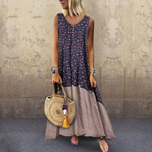 Load image into Gallery viewer, Sexy Round-Neck Bohemian Sleeveless Print Dress