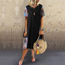 Load image into Gallery viewer, Fashion Cotton And Linen Printing Casual Dresses
