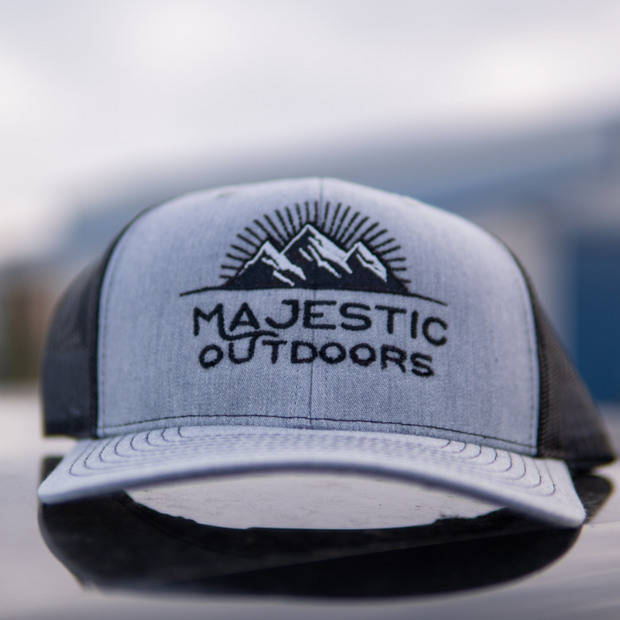 Majestic Outdoors Heather Gray & Black Hat