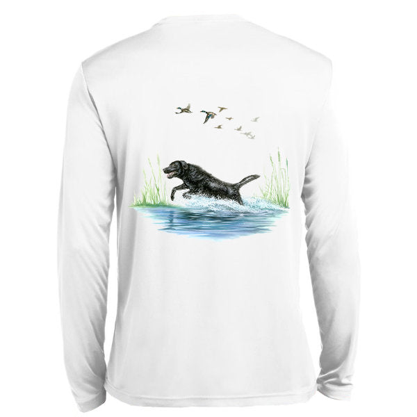 Black Lab Long Sleeve Tech Tee