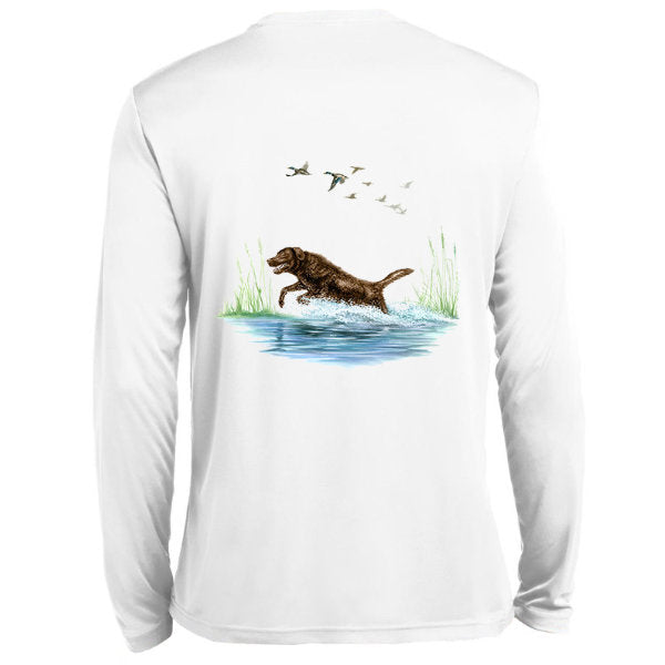 Chocolate Lab Long Sleeve Tech Tee