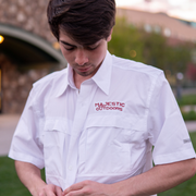 Majestic Outdoors Long Sleeve Fishing Shirt - White