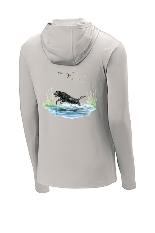Black Lab Hooded Long Sleeve