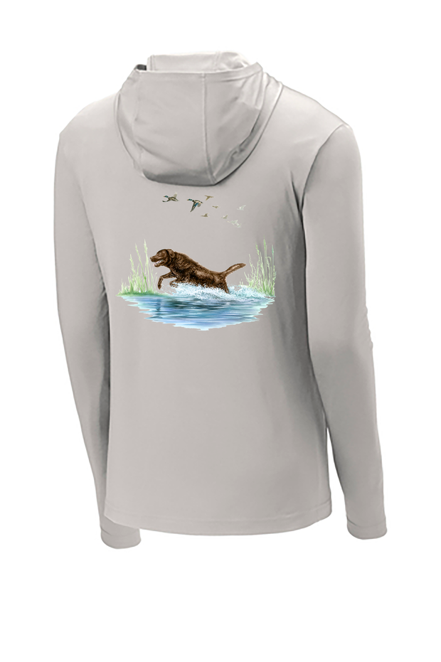 Chocolate Lab Hooded Tech Tee
