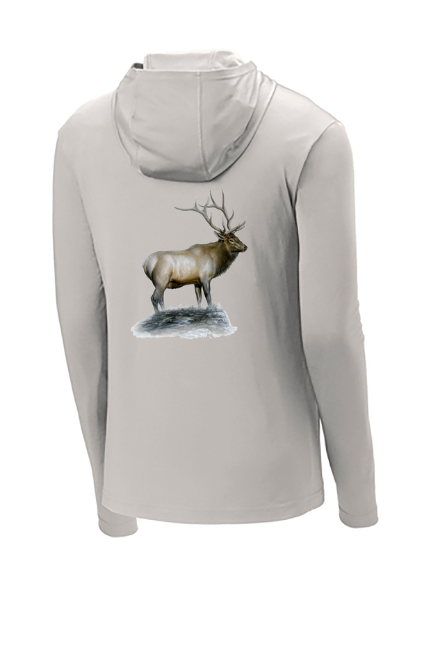 Elk Hooded Long Sleeve Tech Tee