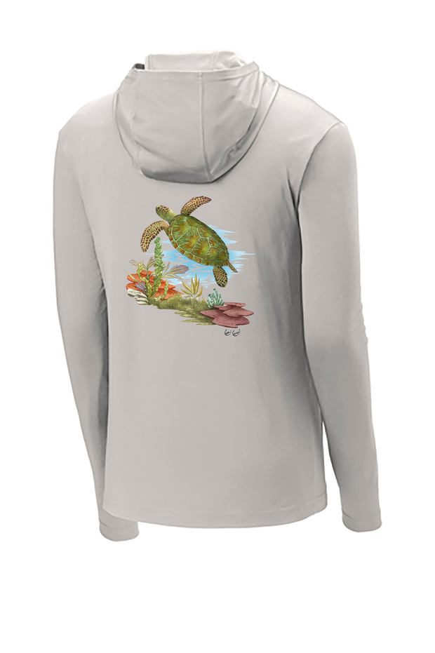 Sea Turtle Hooded Tech Tee