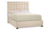 Button Tufted Queen Size Bed