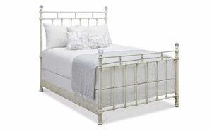 Crystal Finial Queen Size Bed