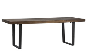 Metal Base Dining Table
