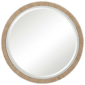 Banana Leaf Round Mirror
