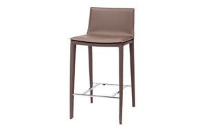 Smooth Leather Bar Stool