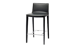 Smooth Leather Counter Stool