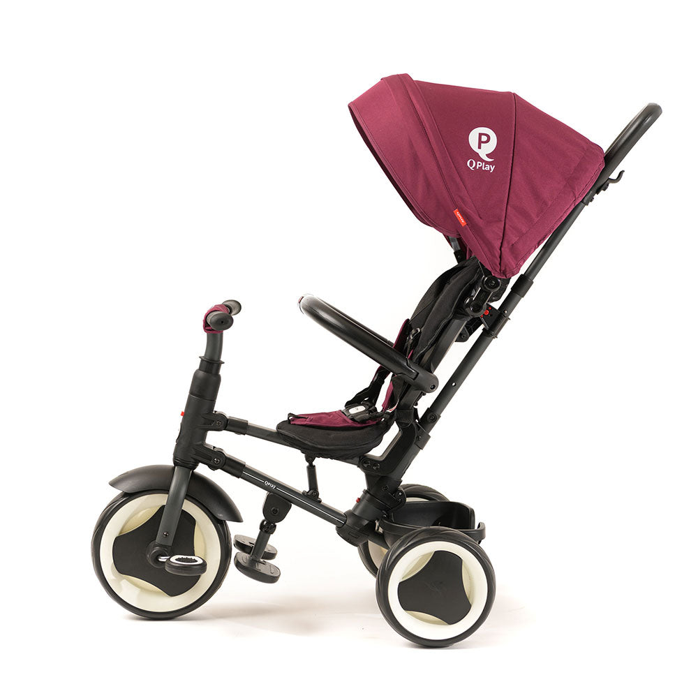 BURGUNDY RITO FOLDING TRIKE - Smart Stroller Trike for Kids