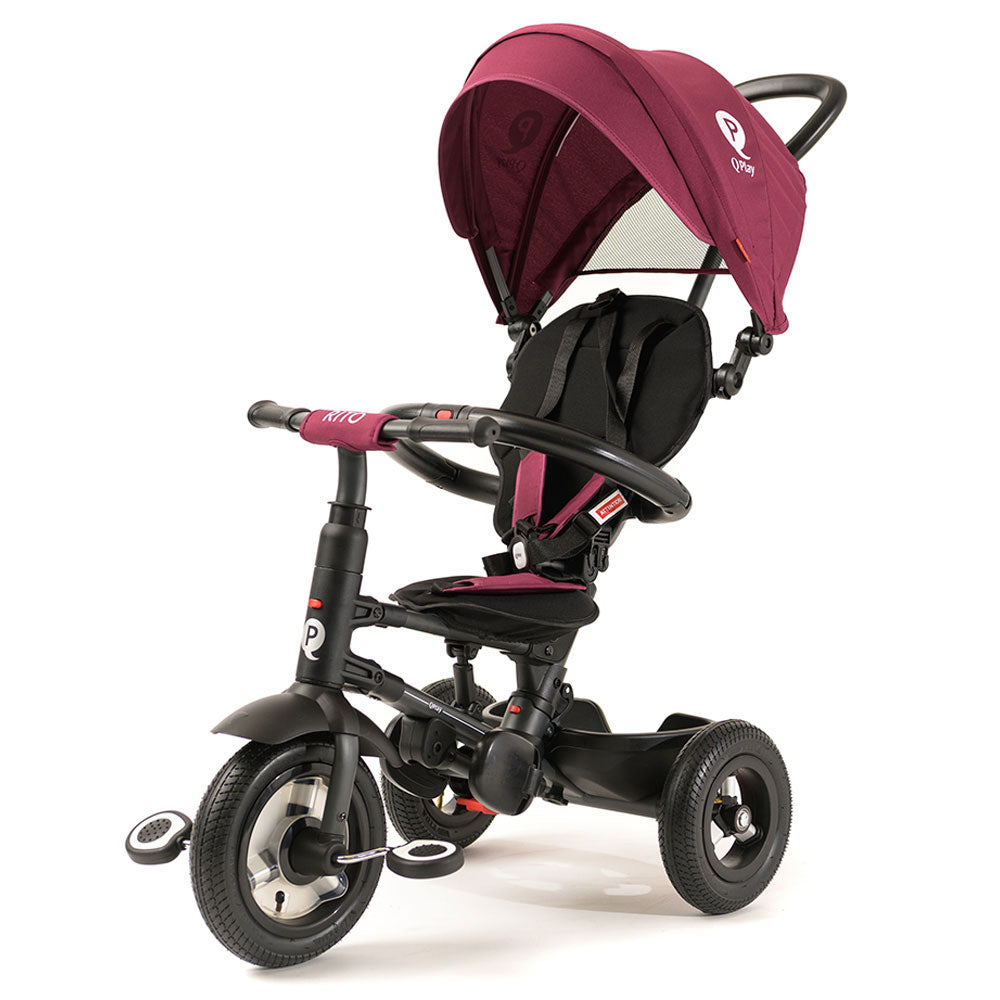 BURGUNDY RITO PLUS FOLDING TRIKE