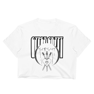 GYPSY CRYPT TAROT LOGO CROP TOP