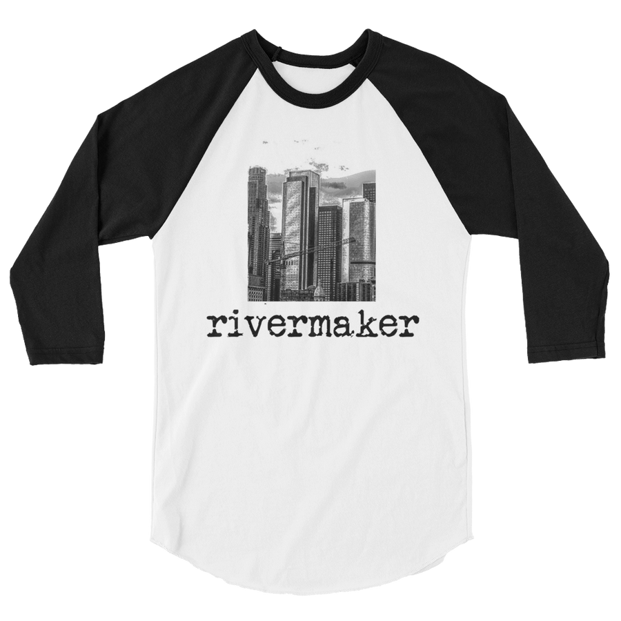 RIVERMAKER 3/4 SLEEVE CITY BANNER TEE - THE ROADHOUSE