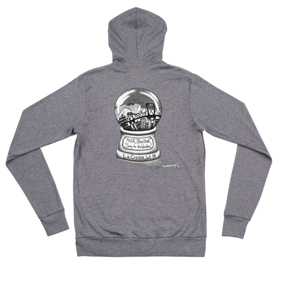 NICK SHATTUCK SORRY FOR THE WEATHER ZIP HOODIE