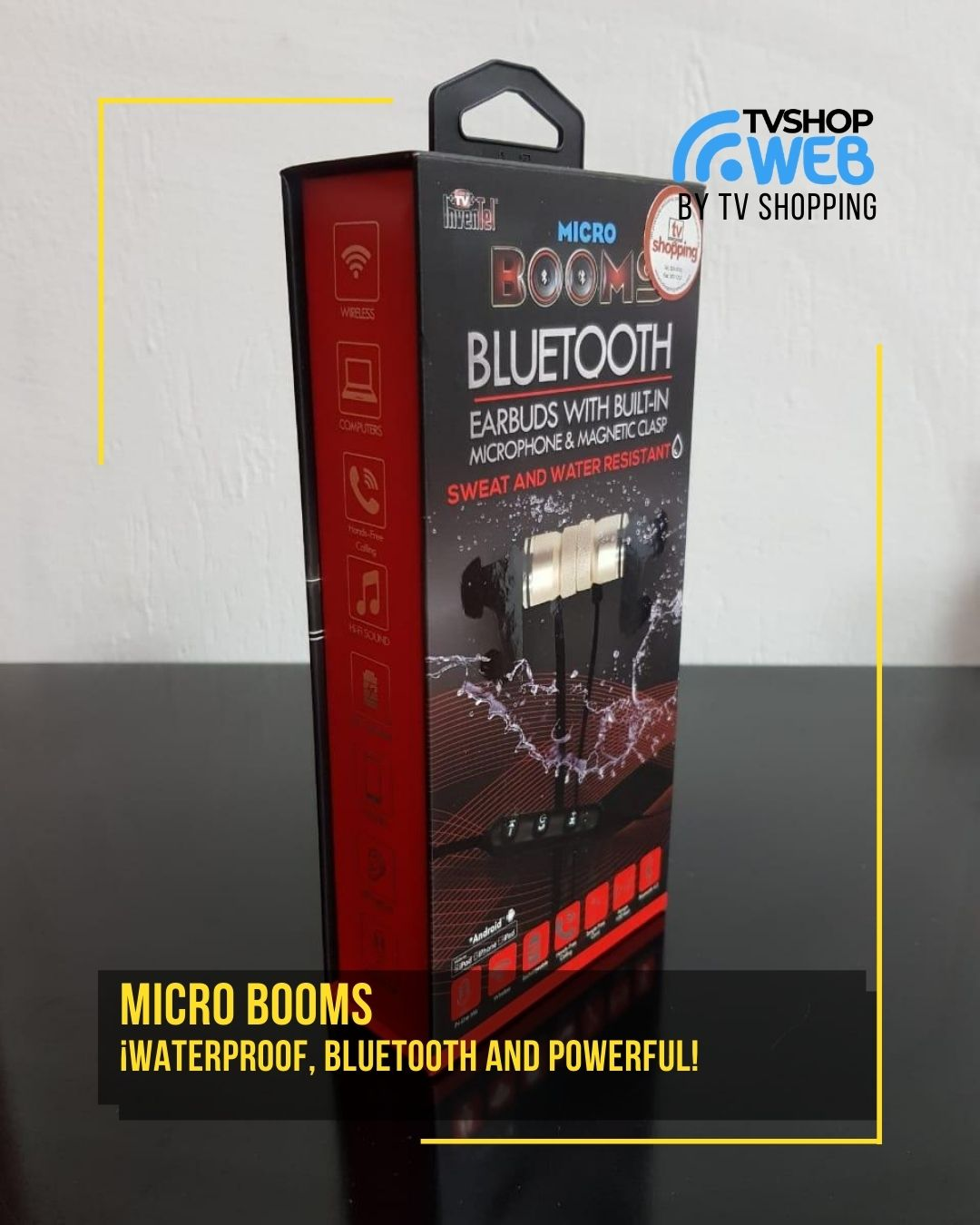 50% menos en MicroBooms - ¡Waterproof, Bluetooth and Powerful!