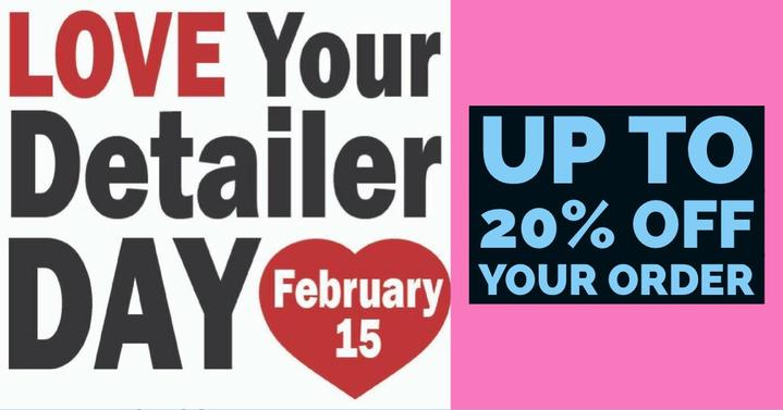 Love Your Detailer Day Sale - Up to 20% off!
