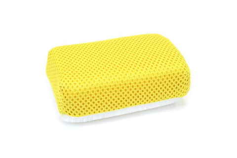 [ SINGLE ] THIN Microfiber Ceramic Coating Applicator Sponge with Plastic Barrier  [Saver Applicator Terry]
