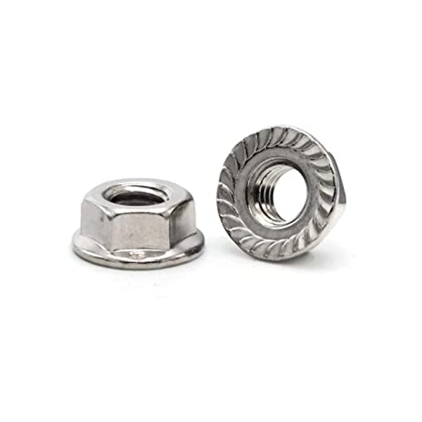 18.8 Serrated Flange Nuts Stainless Steel