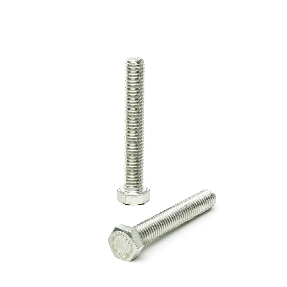18.8 Stainless Hex Tap Bolt Fully Threaded Machine Screws