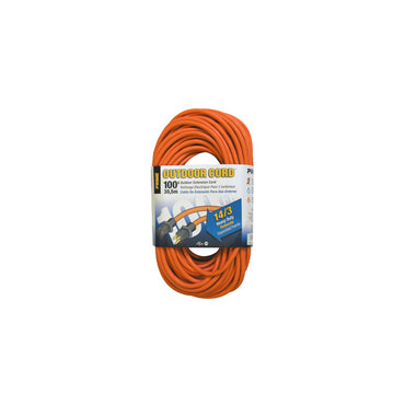 100ft 14/3 SJTW Orange Extension Cord - Bridge Fasteners